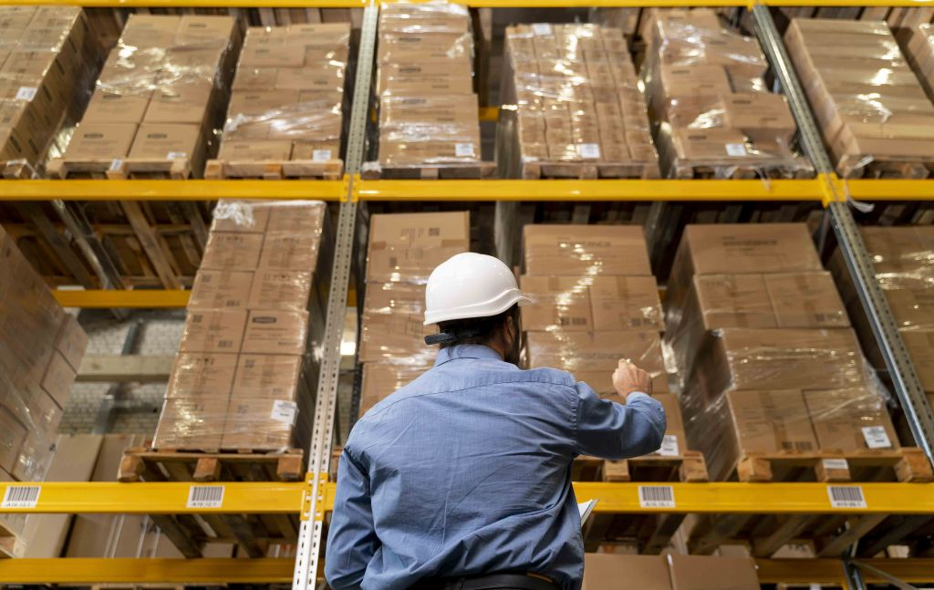product labels  Labels man with helmet working warehouse 1024x647